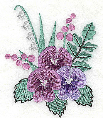 Embroidery Design: Flower A 2.91w X 3.51h