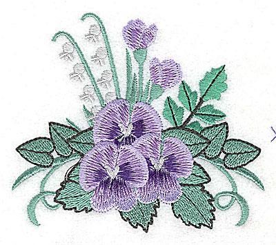 Embroidery Design: Flower B 3.78w X 3.32h