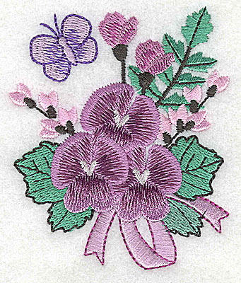 Embroidery Design: Flower D 2.93w X 3.49h