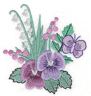 Embroidery Design: Flower E 3.24w X 3.51h