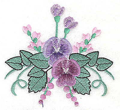 Embroidery Design: Flower F 3.87w X 3.61h