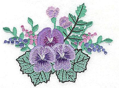 Embroidery Design: Flower J 3.87w X 2.93h