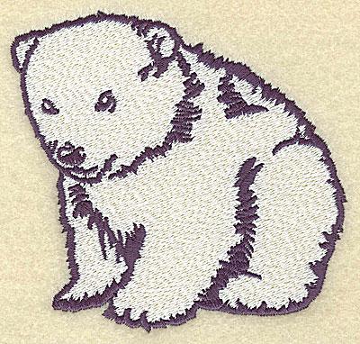 Embroidery Design: Polar bear cub sitting large 4.11w X 3.97h