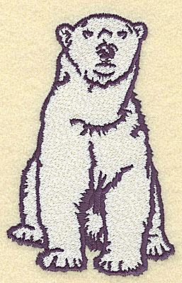 Embroidery Design: Polar bear sitting large 3.20w X 4.93h