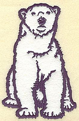 Embroidery Design: Polar bear sitting applique 6.95w X 4.48h