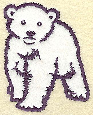 Embroidery Design: Polar bear cub front view applique 6.25w X 4.99h