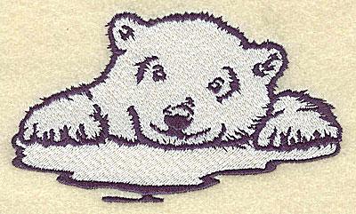 Embroidery Design: Polar bear cub on ice large4.92w X 2.89h
