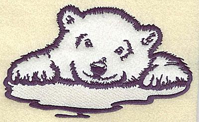 Embroidery Design: Polar bear cub on ice applique 6.97w X 4.34h