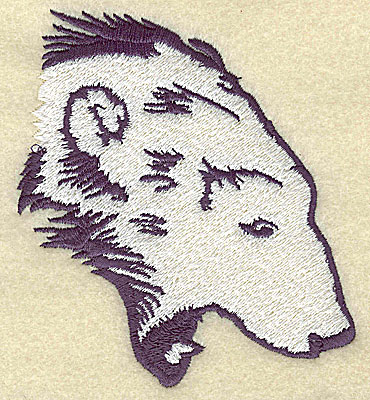 Embroidery Design: Polar bear head attacking large 4.07w X 4.50h