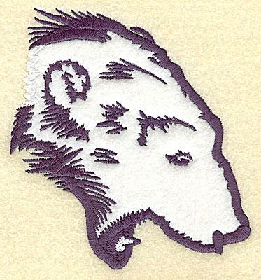 Embroidery Design: Polar bear head attaching applique 4.57w X 4.95h