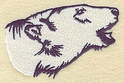 Embroidery Design: Polar bear head side view large 4.53w X 2.97h