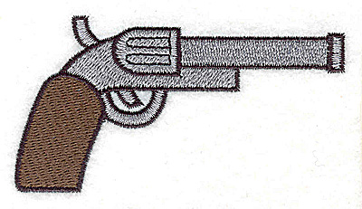 Embroidery Design: Pistol large 3.75w X 2.03h