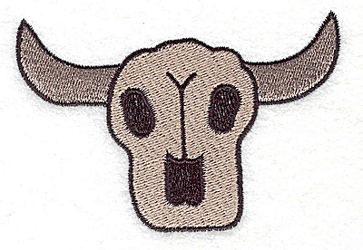 Embroidery Design: Steer skull large  3.85w X 2.63h