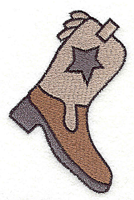 Embroidery Design: Cowboy boot large 2.50w X 3.87h