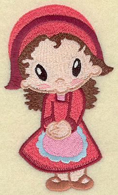 Embroidery Design: Pilgrim girl large 2.81w X 4.80h