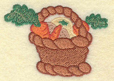 Embroidery Design: Basket of vegetables 2.94w X 2.16h