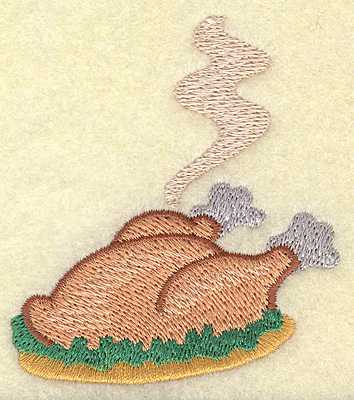 Embroidery Design: Cooked turkey 2.58w X 2.89h
