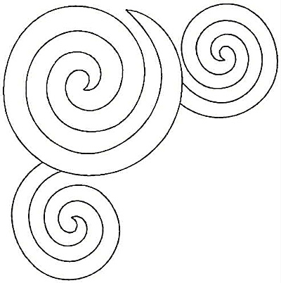 Embroidery Design: Circle swirls large 6.98w X 7.04h