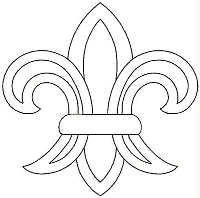 Embroidery Design: Fleur-de-lys small4.81w X 4.79h