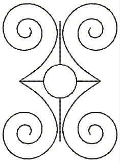 Embroidery Design: Design G small2.25w X 3.07h