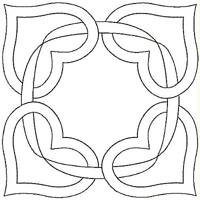 Embroidery Design: Ribbon and Hearts small4.98w X 4.99h