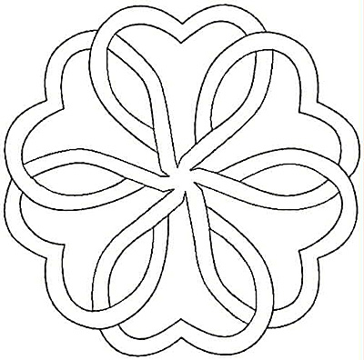 Embroidery Design: Hearts entwined small4.95w X 4.91h