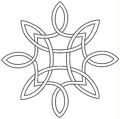 Embroidery Design: Design I small4.99w X 4.94h