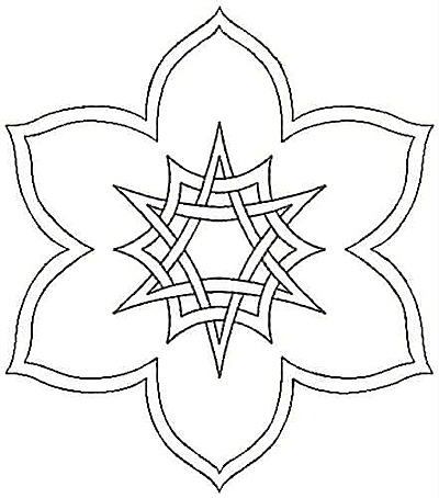 Embroidery Design: Floral Geometric small4.33w X 4.93h