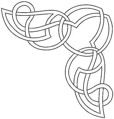 Embroidery Design: Corner wings small4.80w X 4.99h