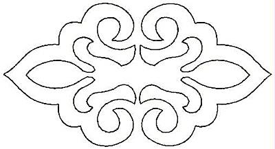Embroidery Design: Double Fleur-de-lys small5.00w X 2.67h