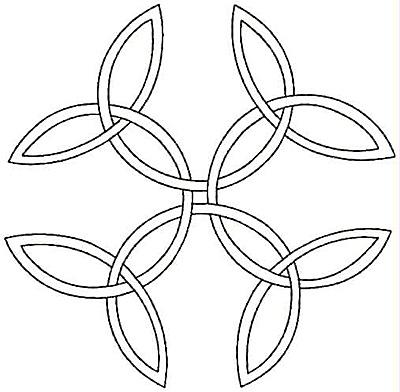 Embroidery Design: Design R small4.99w X 4.91h
