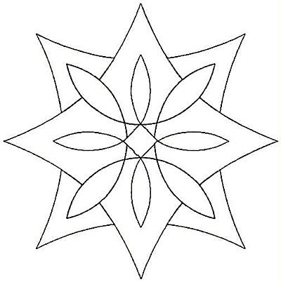 Embroidery Design: Design U small4.96w X 4.99h