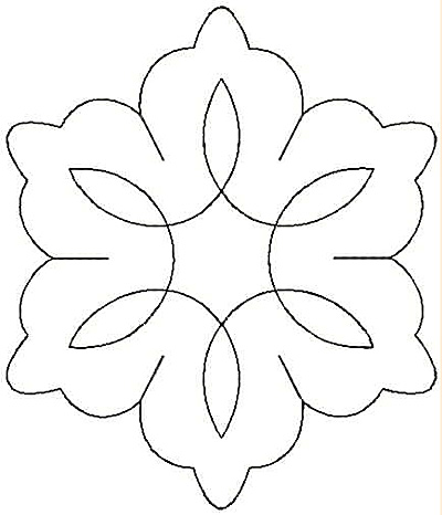 Embroidery Design: Design V small4.25w X 4.97h