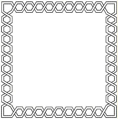 Embroidery Design: Rectangle design small4.94w X 4.99h