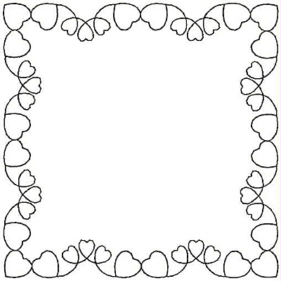 Embroidery Design: Rectangular Heart small5.00w X 5.00h