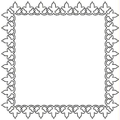 Embroidery Design: Rectangular Fleur-de-lys small5.00w X 5.00h