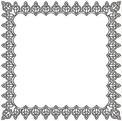 Embroidery Design: Fleur-de-lys Rectangle small5.00w X 5.00h