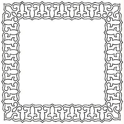 Embroidery Design: Fleur-de-lys Rectangle reverse small5.00w X 5.00h
