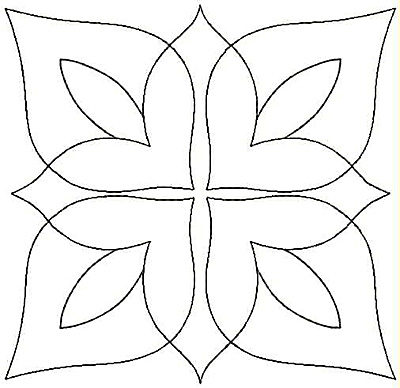Embroidery Design: Floral Leaf small4.84w X 4.84h