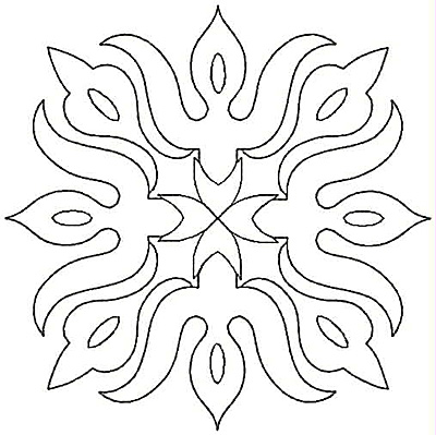 Embroidery Design: Floral Flame small4.99w X 4.99h