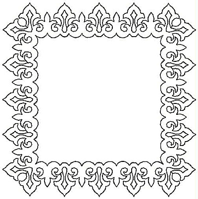 Embroidery Design: Framed Rectangle small4.96w X 4.99h
