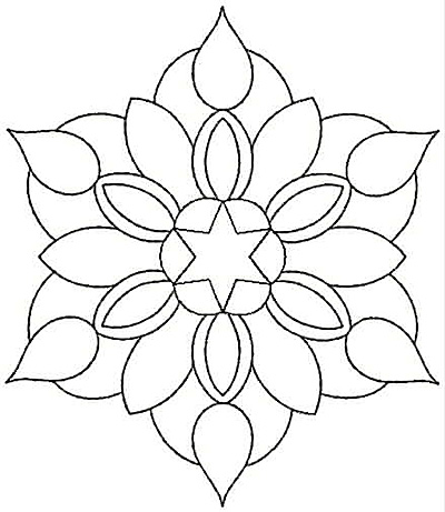 Embroidery Design: Floral Star small4.32w X 5.00h