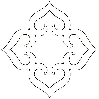 Embroidery Design: Hearts Four small5.00w X 5.00h
