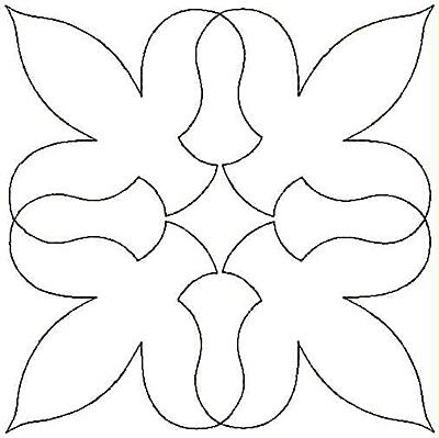 Embroidery Design: Stylized Fleur-de-lys small4.99w X 4.98h