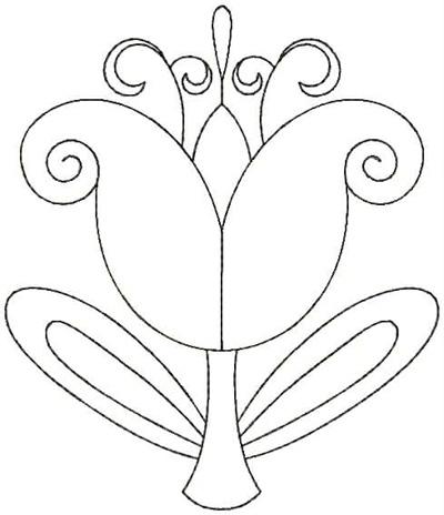 Embroidery Design: QDesign 13A 4.75w X 5.56h
