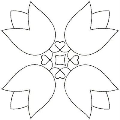 Embroidery Design: QDesign 16A 4.75w X 4.75h