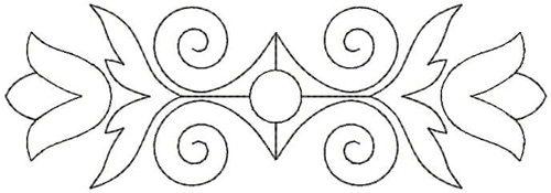 Embroidery Design: QDesign 33A 6.75w X 2.25h