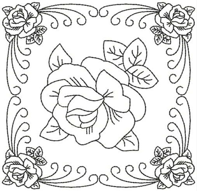 Embroidery Design: QDesign 42A 4.93w X 4.75h