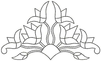 Embroidery Design: QDesign 46A 4.93w X 2.93h