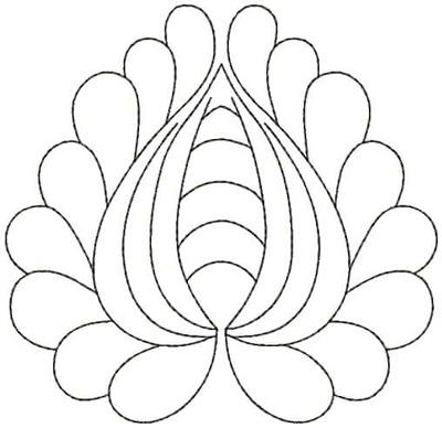 Embroidery Design: QDesign 54A 4.93w X 4.81h